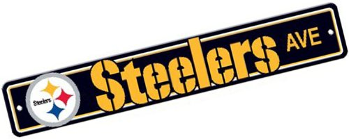 NFL Pittsburgh Steelers Plastic Street Sign