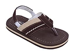 Brand New Toddlers Thong-Style Brown Sandals Size 8