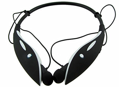 Bluetooth Headphones By Gear Dynamix With Neckband For Athletic Activity. Listen To Wireless Music On Detachable Ear Buds. Includes Mic To Talk, Text, Open Apps On Your Phone. Headset Vibration Call Alert For Pc, Psp, Iphones 6 Plus, Ipad, Tablets, Androi front-553386