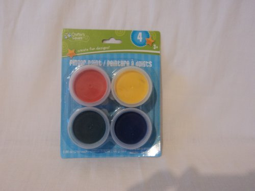 Crafter's Square Finger Paints - Four Colors - Red,Yellow,Green,Blue - 1