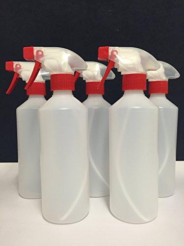 5x Vaporisateur bouteilles 500ml, protéger, sols ménage résistant aux produits chimiques