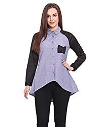 A-Line Chambre Shirt With Raqlin Sleeves And Colour Blocking Small