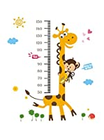Ambiance Live Vinilo Decorativo Girafe and monkey (Kidmeter)