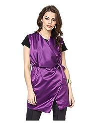 Yepme Women's Purple Polyester Jackets - YPMJACKT5196_M