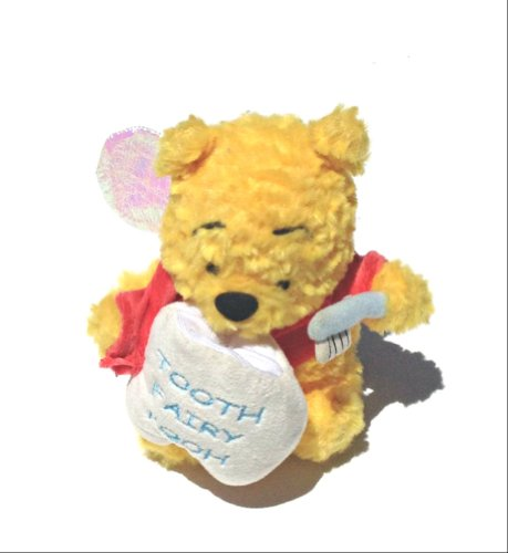 "Disney Tooth Fairy Pooh 6"" Plush Bear - 1"