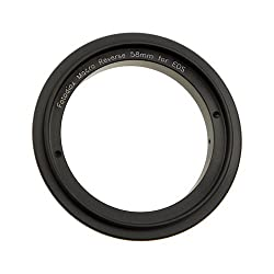 Fotodiox Macro Reverse Ring Camera Mount Adapter for Canon EOS Camera with 58mm Filter Thread Lens