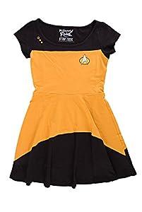 Star Trek The Next Generation Juniors Gold Costume Dress