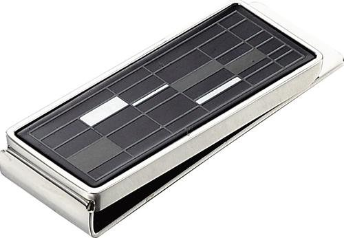 Gridlock Stainless Steel Money Clip front-559674