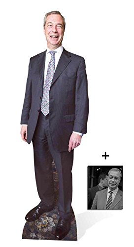 Fan Pack - Nigel Farage UKIP Leader British Politician Lifesize Cardboard Cutout / Standee Includes 8x10 (20x25cm) Photo (British Statue compare prices)