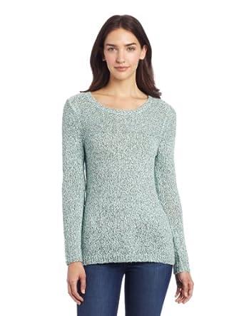 CK女士长袖针织衫 Calvin Klein Marled Pullover 青色 $35.68