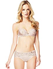 Autograph Floral Embroidered Padded A-DD Bra