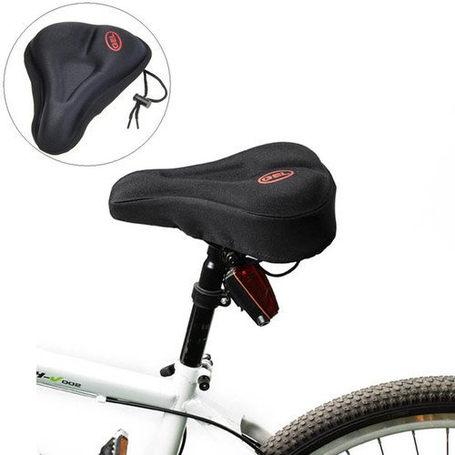 Black Silicone Bike Bicycle Soft Gel Saddle Seat Cover Cushion Pad一站式海淘,海淘花专业海外代购网站--进口 海淘 正品 转运 价格