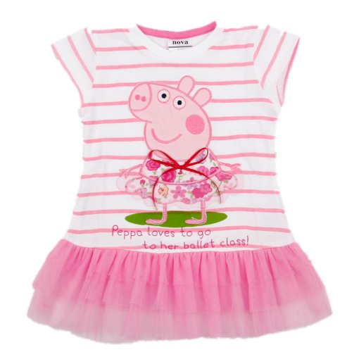 Peppa Pig Girls Printed Lovely Peppa Pig Embroidery Tunic Top,3Y,Pink front-30771