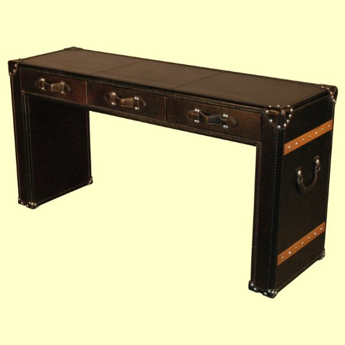 Cheap Leather Console Table In Ebony – D|LU195 (B002N6P8GU)