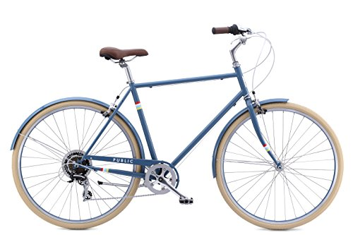 "Read About PUBLIC Bikes V7 Comfort 7-Speed City Bike, 18""/Small, Slate Blue (2015 Model)"