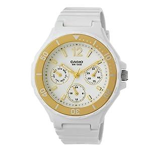 Casio卡西欧防水女表 Women's LRW250H-9A1 Gold Bezel Watch$41.05