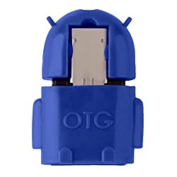 KARP Robot Shape OTG Adapter Micro USB OTG to USB 2.0 Adapter for Smartphones & Tablets - Blue Colour