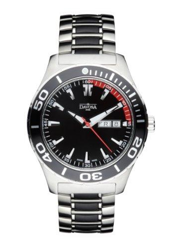 Davosa - 16346550 - Montre Homme - Quartz Analogique - Bracelet Acier Inoxydable Argent