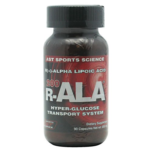 R-Ala 200, 100% Pure Alpha Lipoic Acid, 90 Capsules, 200Mg, R Ala, From Ast