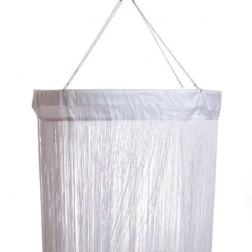 Koyal String Curtain Column, 2 By 20-Feet, White back-6130