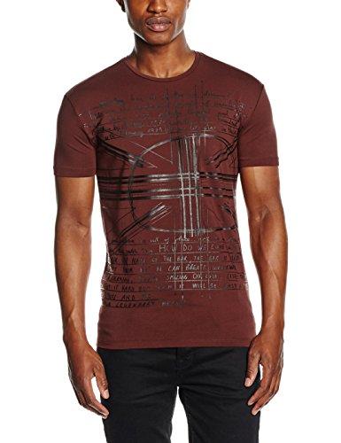 Antony Morato T Shirt Girocollo Stampa Scretch Flag, Maglietta da Uomo, Vino, XL
