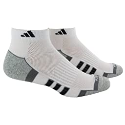 adidas Men's Climalite II Low Cut Sock (2-Pair), White/Aluminum 2/Black/Medium Lead/Aluminum 2 Marl, Size 6-12