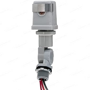 Intermatic K4223C - Photo Control - Thermal Type Photocell - Stem and Swivel Mounting - Dusk-To-Dawn - 208-277 Volt