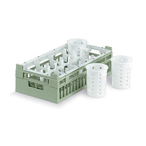 Vollrath 5280811 Light Green Half Size 8-Compartment Cylinder Rack
