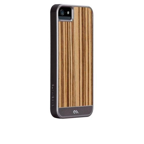 Case-Mate 日本正規品 iPhone5 Artistry Woods Case, Zebrawood アーティストリーウッズ ケース,ゼブラウッド【天然木素材+アルミニウム素材+強化プラスティックフレーム素材のハイブリッドケース】 CM022436