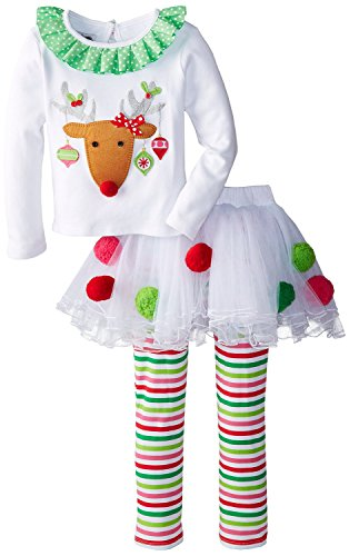 EGELEXY Baby Girl Christmas Davidsdeer Suit T-shirt+Culottes Long Pants Outfits