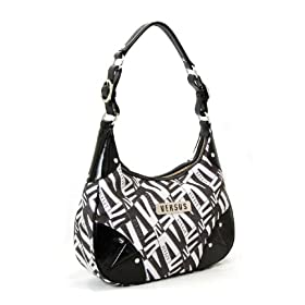 Versace Medium Black & White Handbag