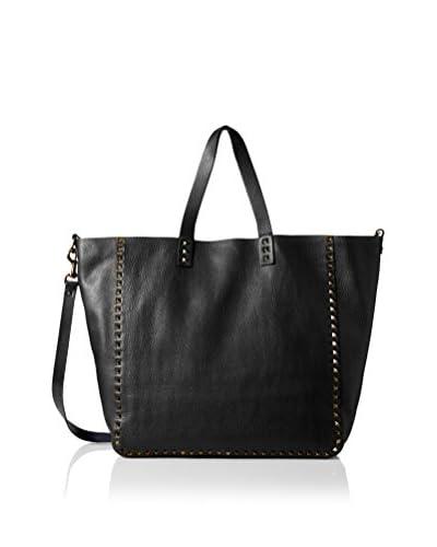 Valentino Men's Reversible Rockstud Tall Grainy Leather Tote, Black