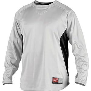 Rawlings Men's Dugout Fleece Pullover, White/Black, XXL