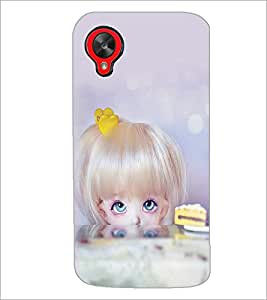 PrintDhaba Beautiful Doll D-1070 Back Case Cover for LG GOOGLE NEXUS 5 (Multi-Coloured)