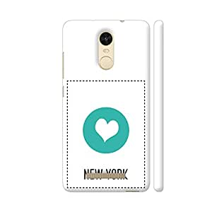 Colorpur I Love New York Designer Mobile Phone Case Back Cover For Xiaomi Redmi Note 3 | Artist: Torben