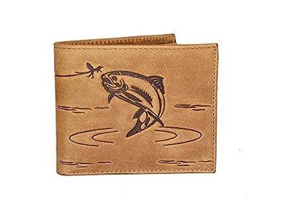 Fly Fishing Leather Designer Wallet