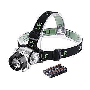 Lighting EVER Phares à LED Super lumineux, 18 LED Blanches et 2 LED rouges, 4 choix de niveau de Luminosité