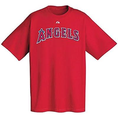 MLB Los Angeles Angels Wordmark T-Shirt, Red, Large