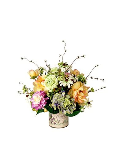 Creative Displays Spring Flower Decoupage Bouquet, Pink/Yellow/Lavender/Green