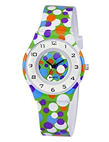 buy Zeiger Kw017 Kids Children Girls Women Teen Watch, Time Teacher Super Thin Watch Dial With Soft Strap (Green)