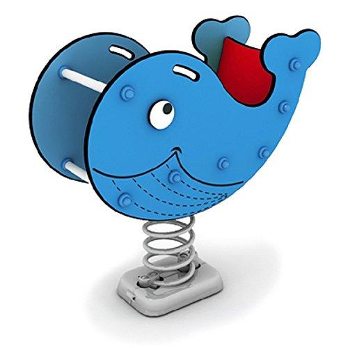 Federwipptier Wal Willy mit Rückenlehne - blau