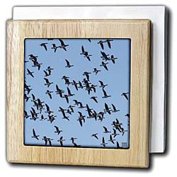 Canada Geese, Branta canadensis - 6 Inch Tile Napkin Holder