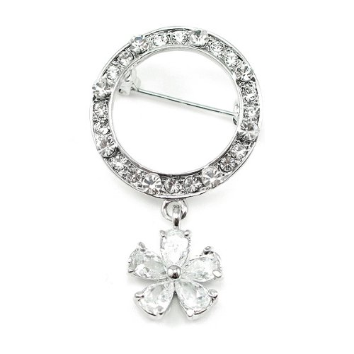 Perfect Gift - High Quality Elegant Brooch with Swarovski Crystals (366) Christmas Gifts Free Standard Shipment Annual Clearance
