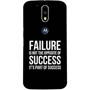 Casotec Motivational Quote Design 3D Printed Hard Back Case Cover for Motorola Moto G4 Plus