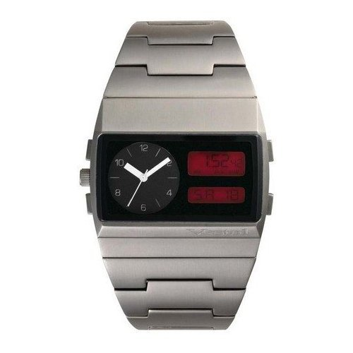 Vestal Men's MMC026 Metal Monte Carlo Ana-Digi Red Dial Gunmetal IP Watch