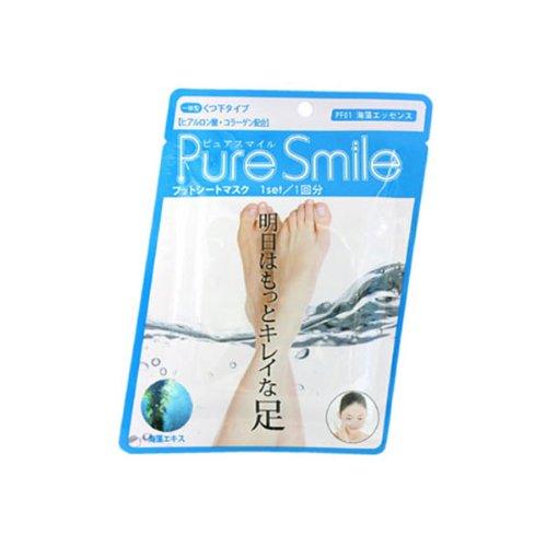 Pure Smile フットシートマスク 海藻 10枚セット