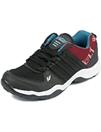 Asian Shoes Bravo 13 Black Red Mens Mesh Sports Shoes