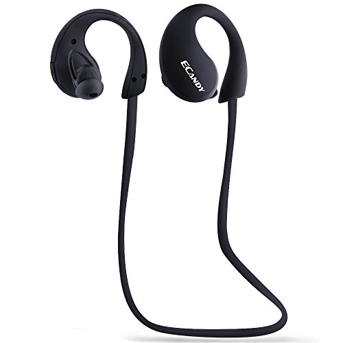 IP66 Bluetooth Headsets Ecandy Bluetooth Noise Cancelling Wireless Stereo Sport Headset Headphones for iPhone 6/5s/5c/5, iPhone 4s/4, Samsung Galaxy S6/S5/S4/S3, LG and Other Bluetooth Device,Black (Bluetooth Samsung Galaxy S3 compare prices)