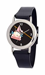 South Park Men's D1534SS414 Torino Collection Cartman Black Plastic Strap Watch