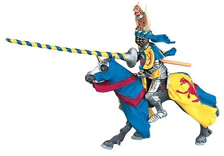 Buy Horse w/ Blue & Yellow Robe Replica Toy